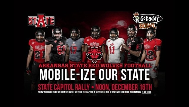 'Mobile-ize Our State' Red Wolves Pep Rally at State Capitol