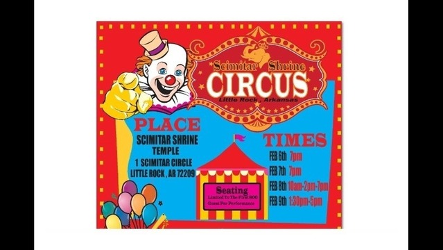 Shrine Circus Performs in LR Next Week
