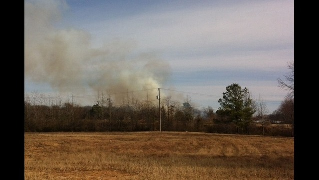 Woods Fire on East Side of North Little Rock