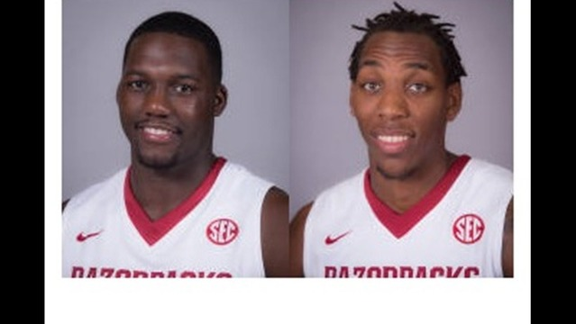 Basketball Razorbacks Harris, Qualls Suspended