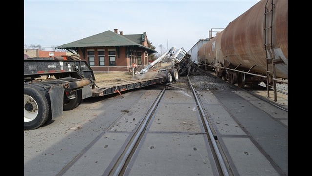 Truck Hit by Train at Beebe Crossing