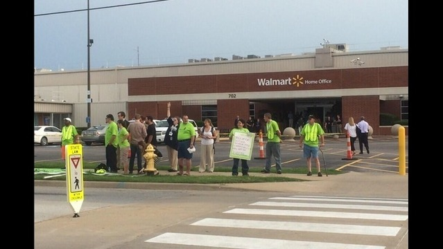 Group Protests at Walmart Home Office, Executive's Neighborhood