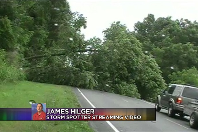 Northwest arkansas storm damage cleanup is under way in at least