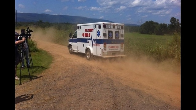 Ambulance Leaves Missing Man/Baby Search Scene, Tow Truck Goes in