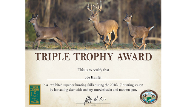 Triple Trophy Award Available to Deer Hunters