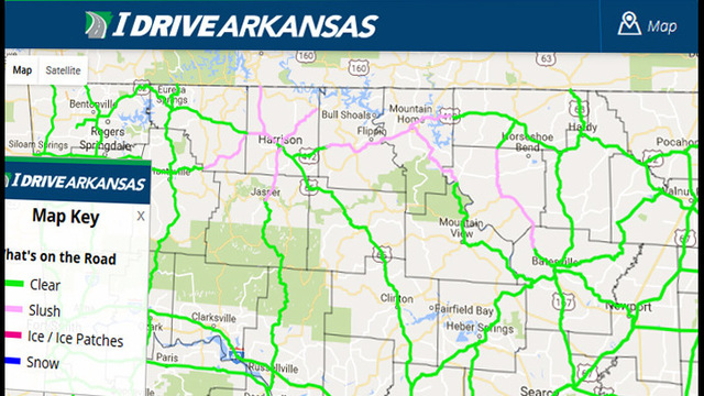 Winter Weather Causing Road Problems in Northern Arkansas