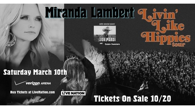 Miranda Lambert to Play in NLR in March