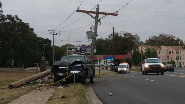 Did I Just See That? Power Pole Lands in Pickup