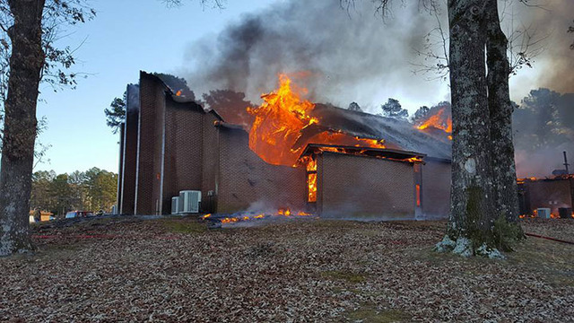 Fire Reported Friday AM at First Assembly of God Church