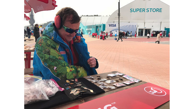 Trading Pins at the Winter Games